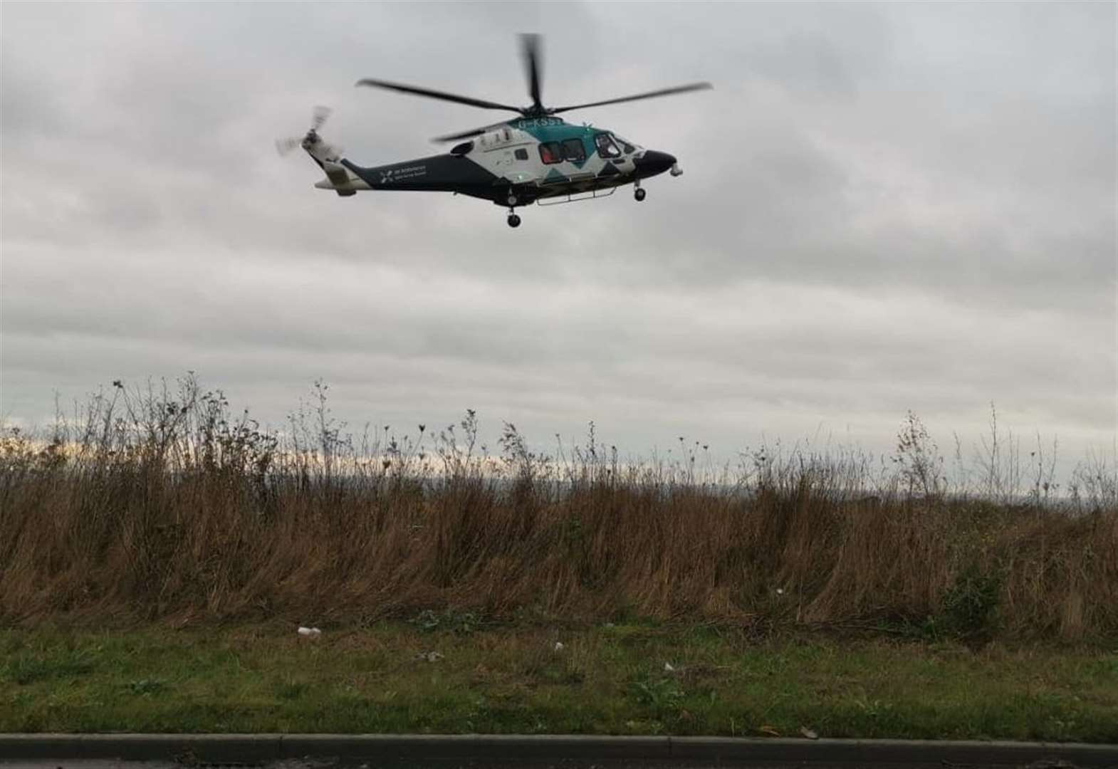 Air ambulance lands after serious crash
