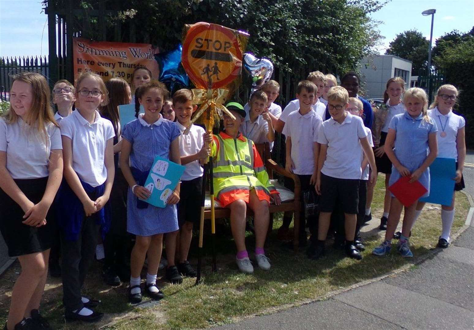 Lollipop lady retires after more than 30 years