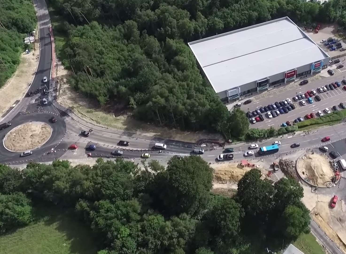 Drone footage of A21 work released