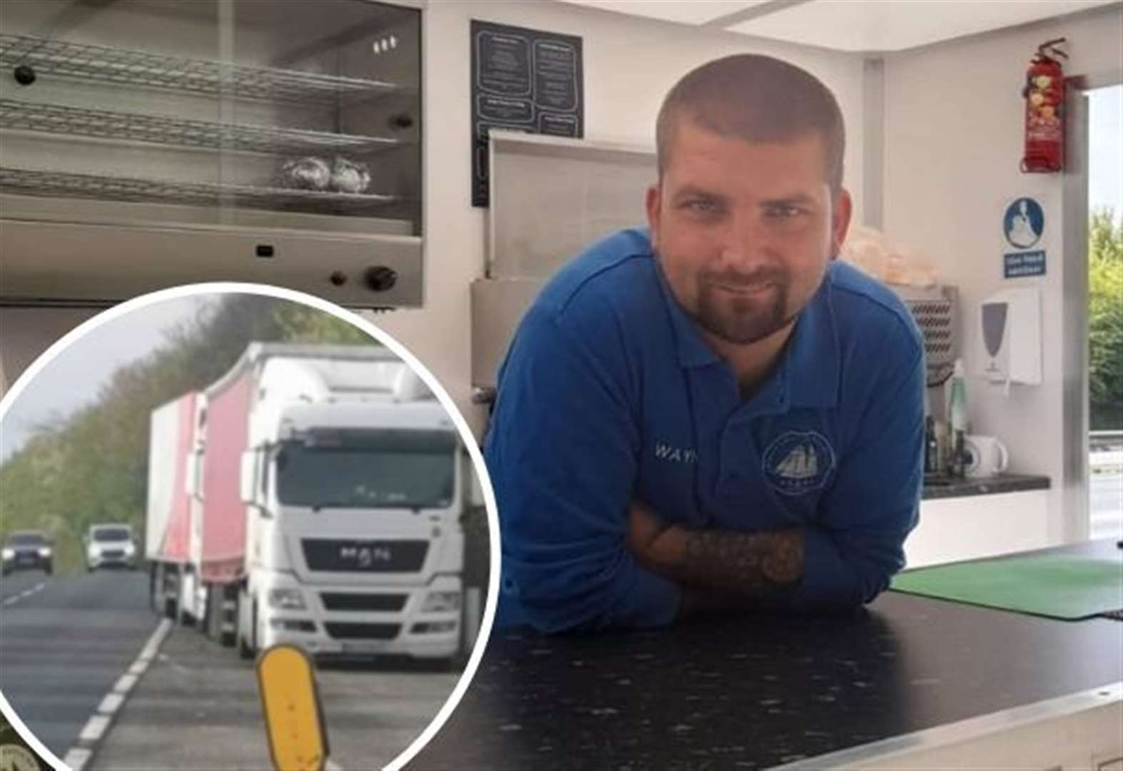 'I can't set up my food wagon because lorries block lay-by'