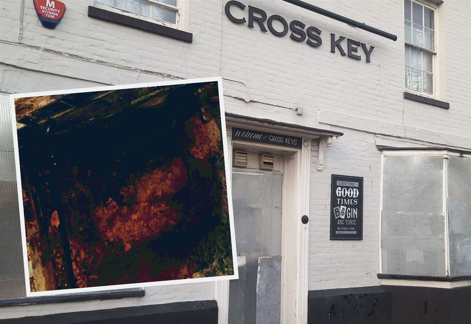 Pub shuts as 20ft hole opens in loos