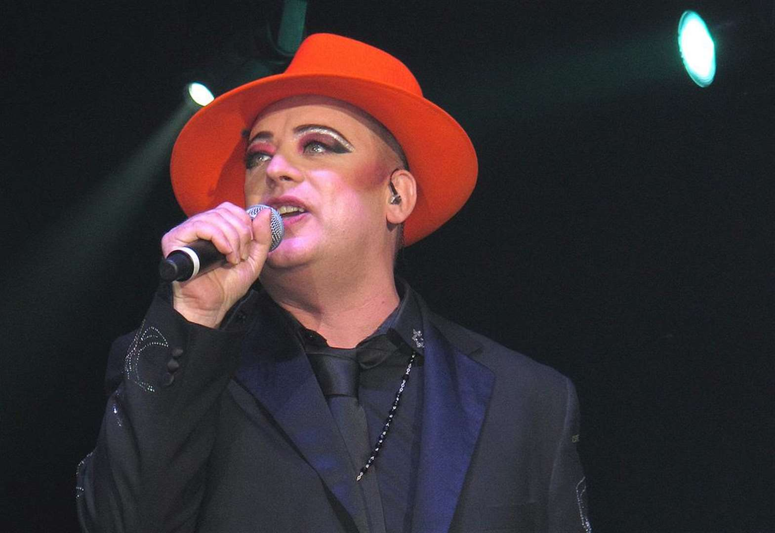 Boy George a calmer-chameleon by the sea