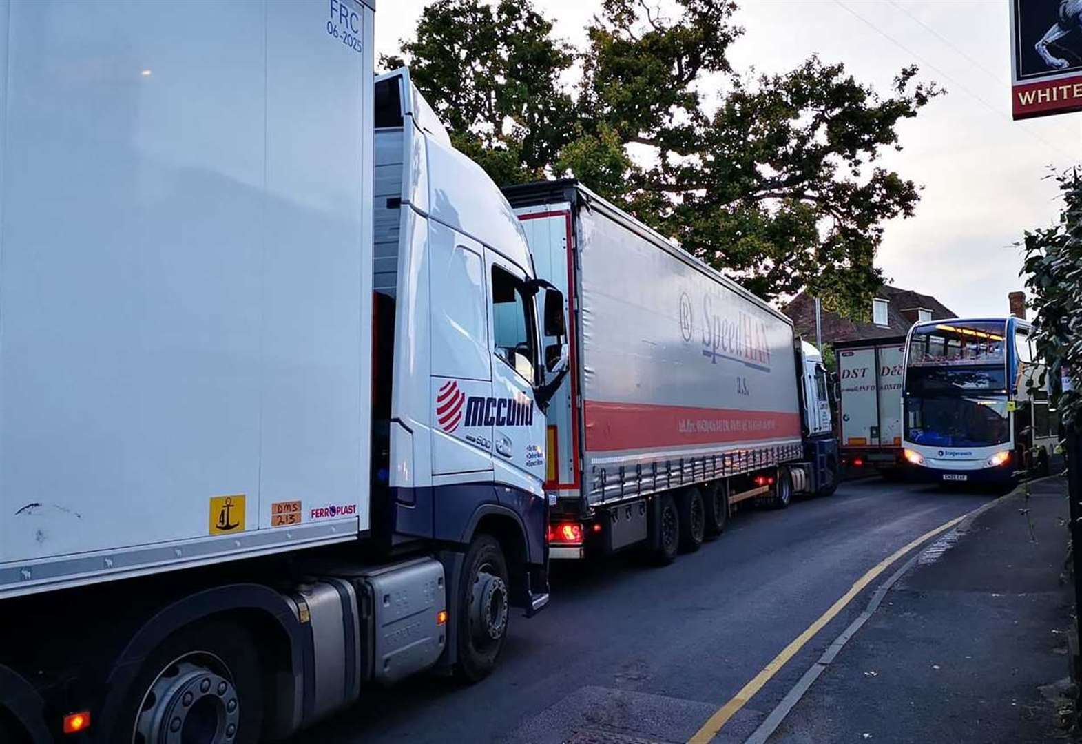 Demands for lorry ban on narrow village streets