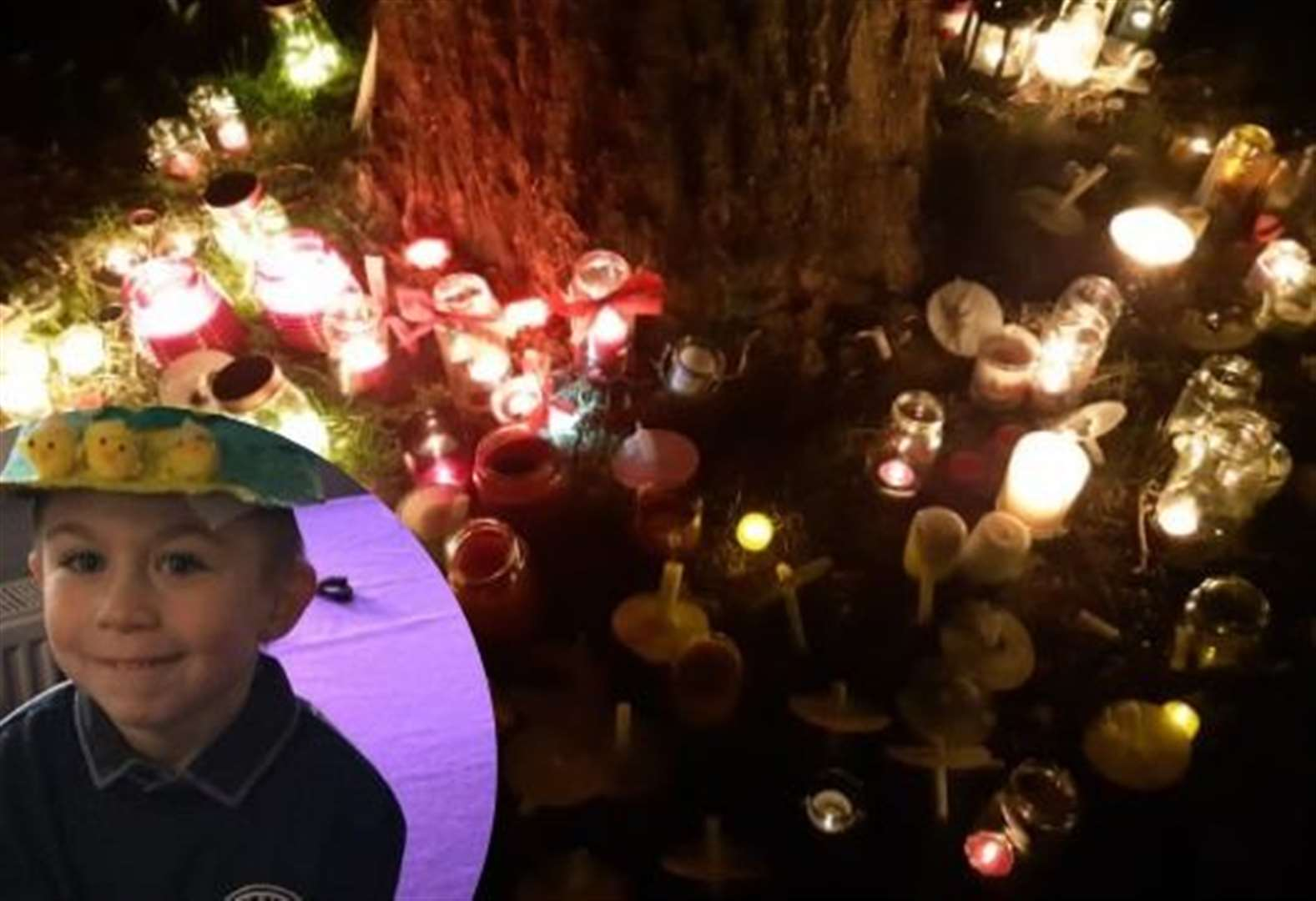 Family lead community for candlelit vigil