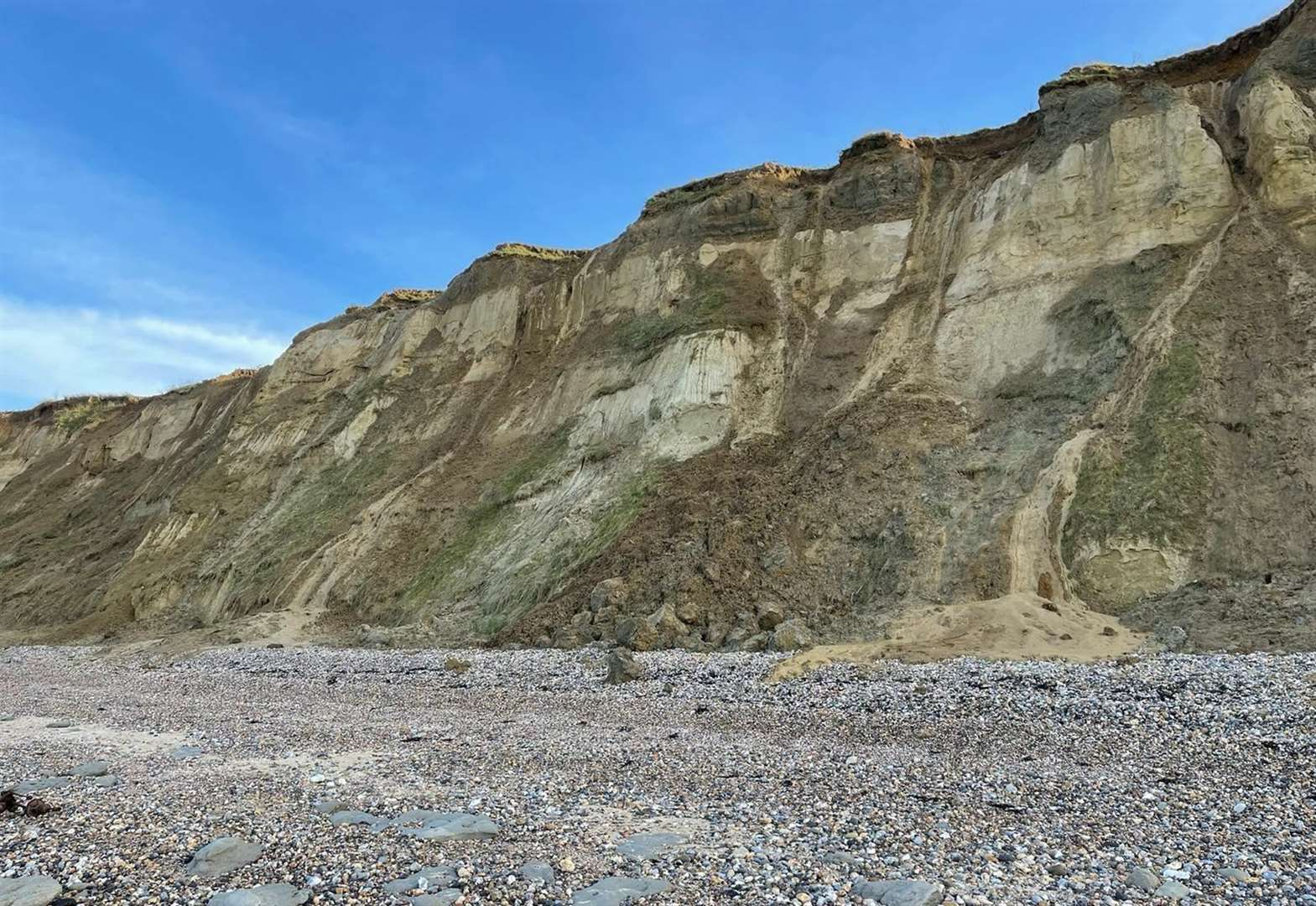 Walkers warned after cliff fall