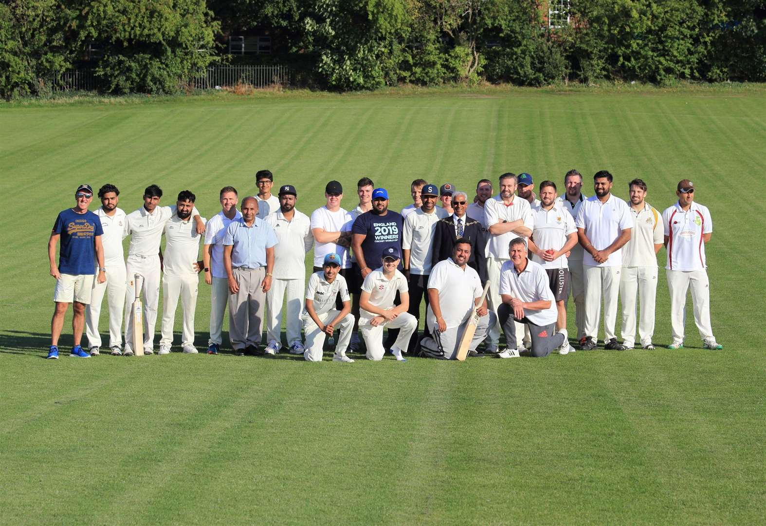 Police hit for six in charity cricket match