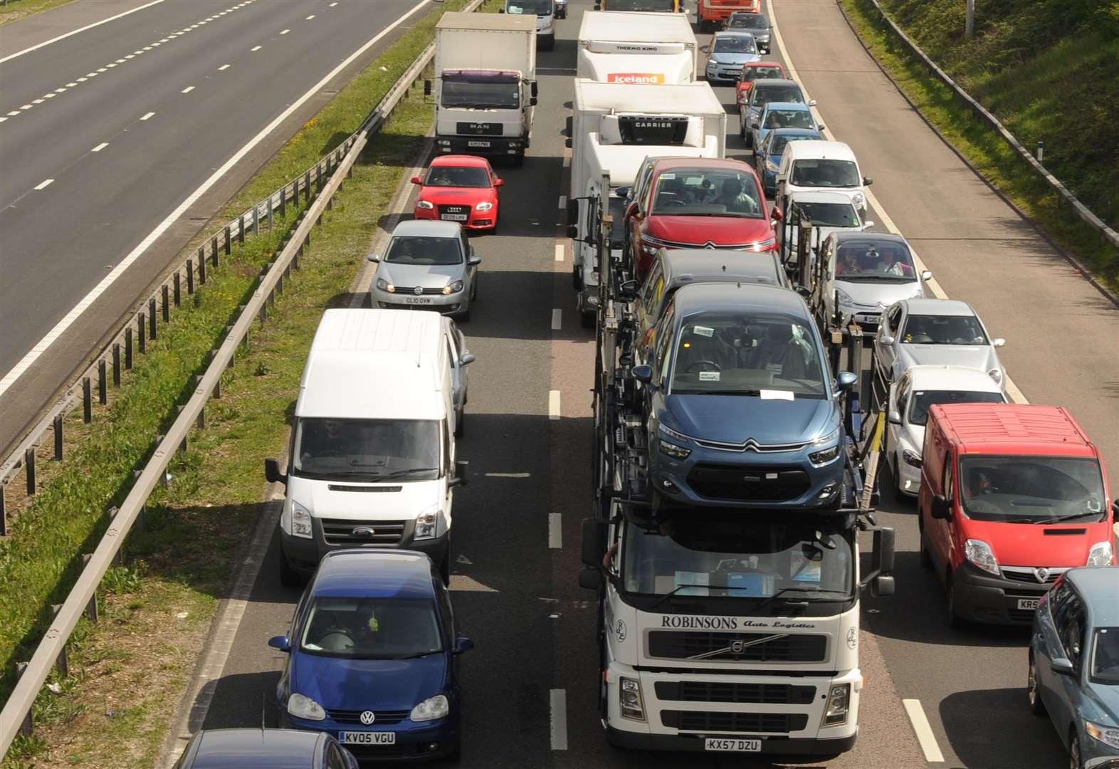 M2 closure in place