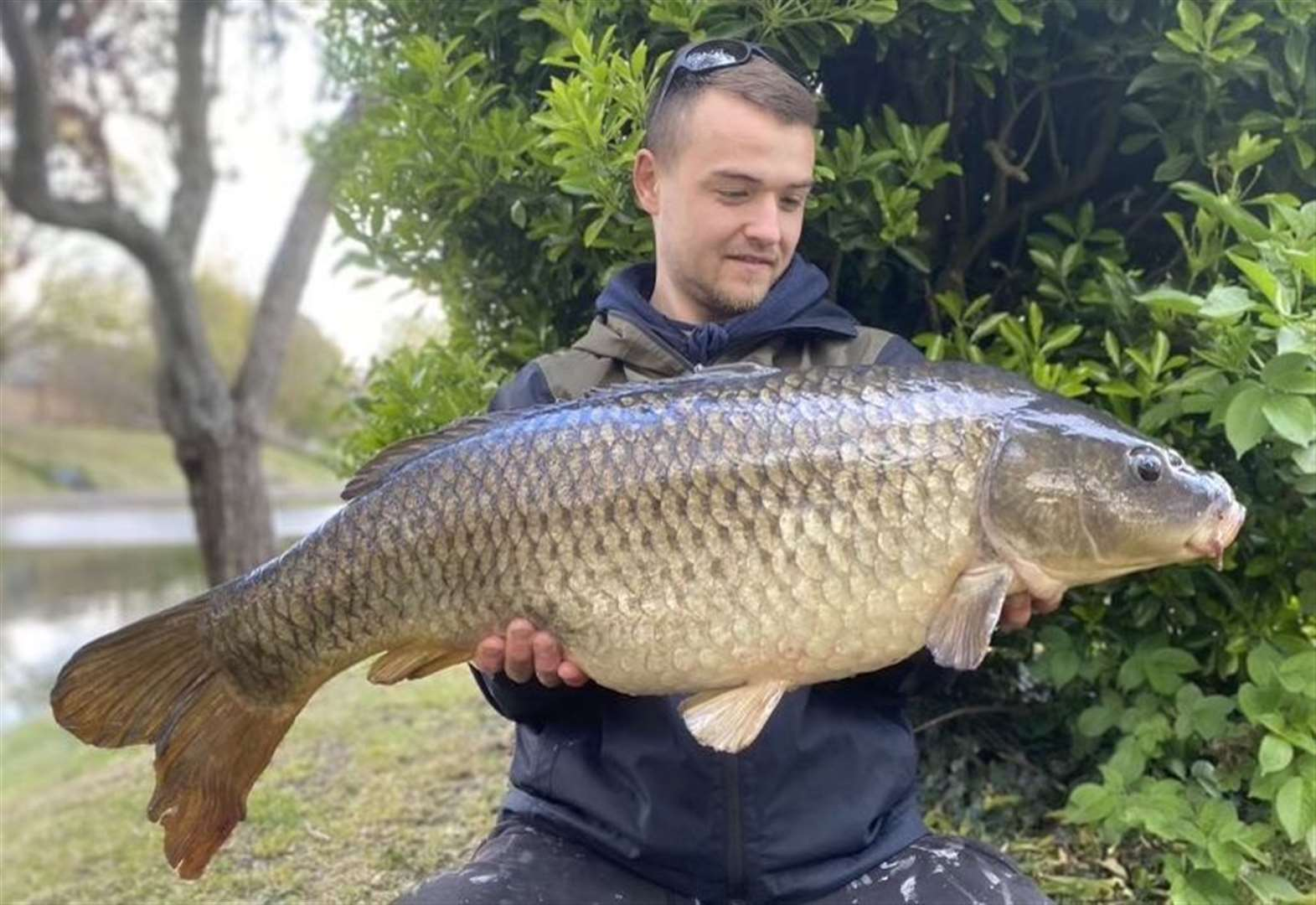 What a catch! Man's amazement over landing 3ft carp