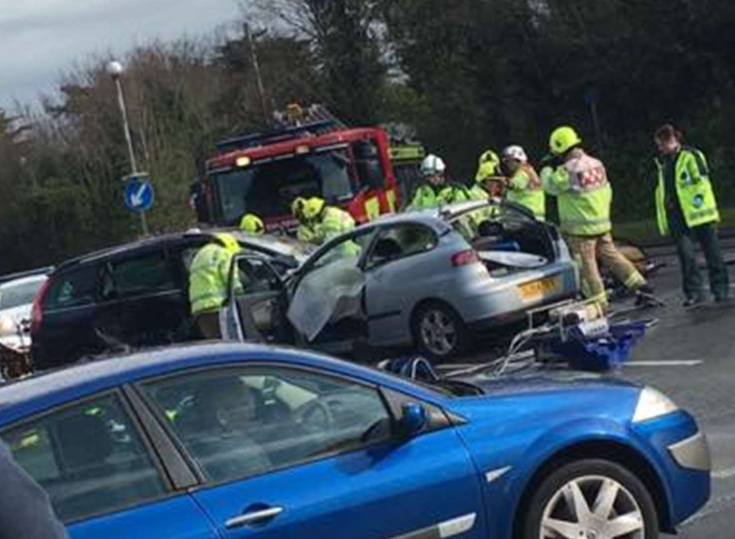 Two in hospital with serious injuries after crash