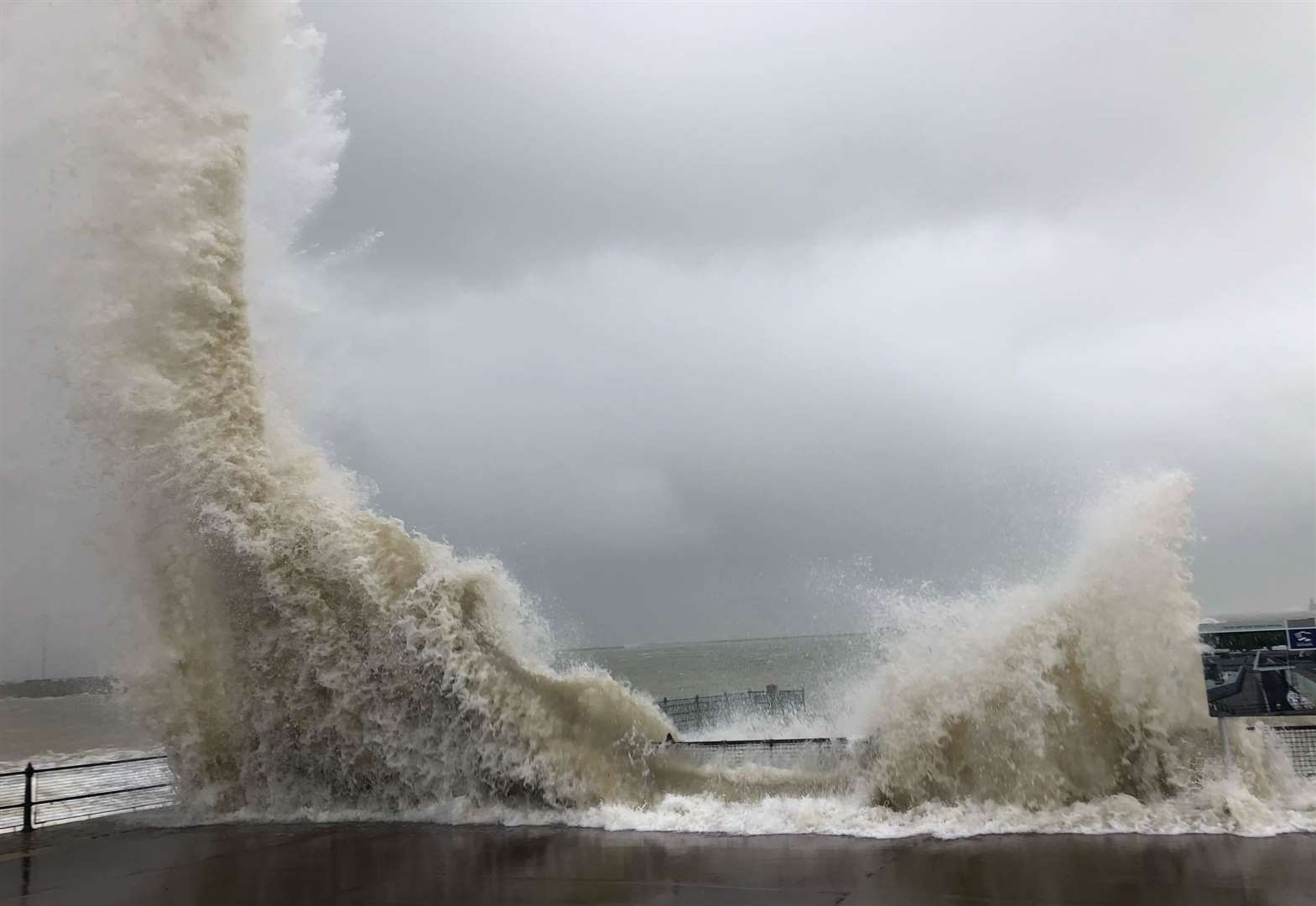 Dramatic photos show storm's effects on coast