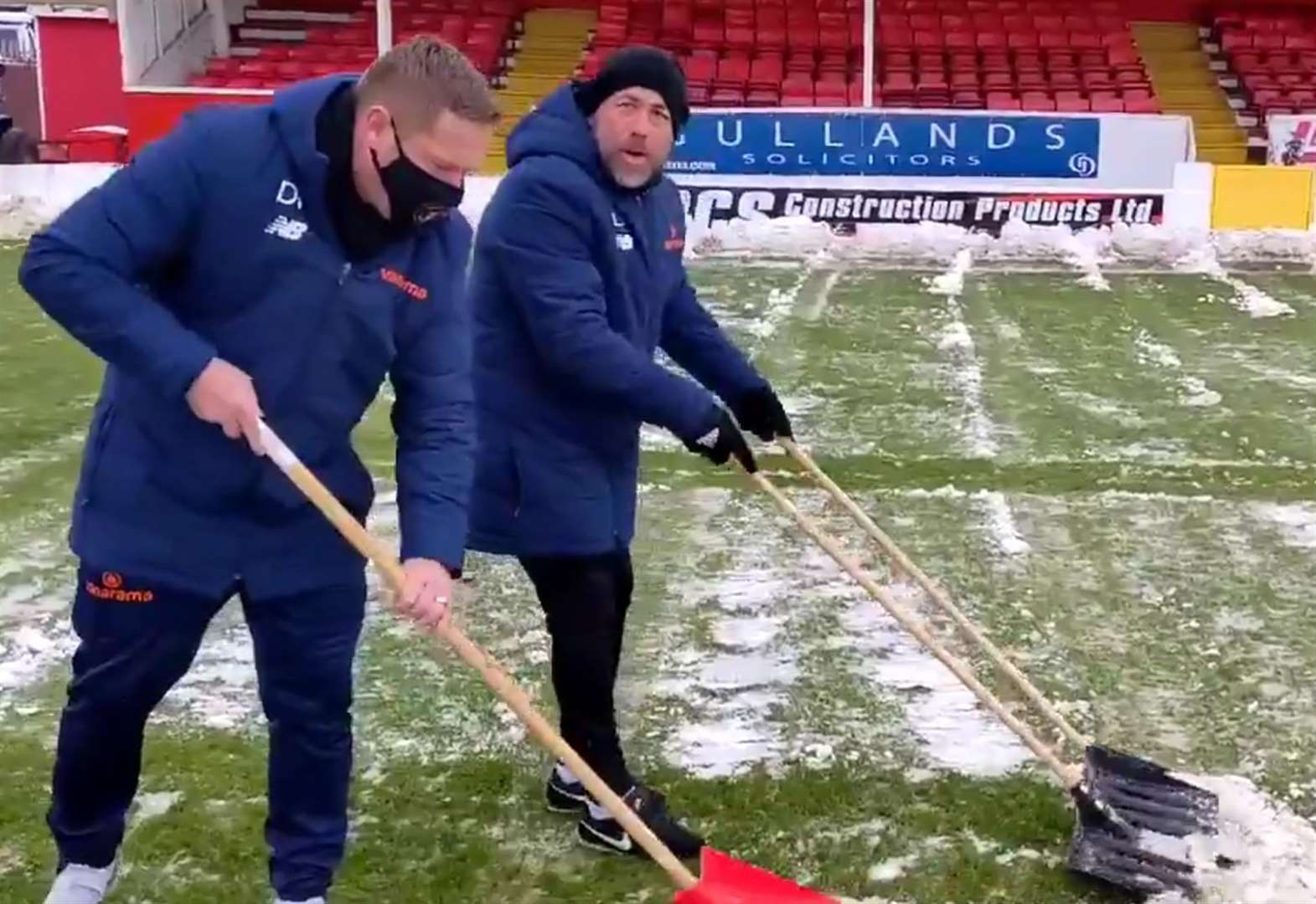 Fleet boss rewarded for his pre-match efforts in the snow