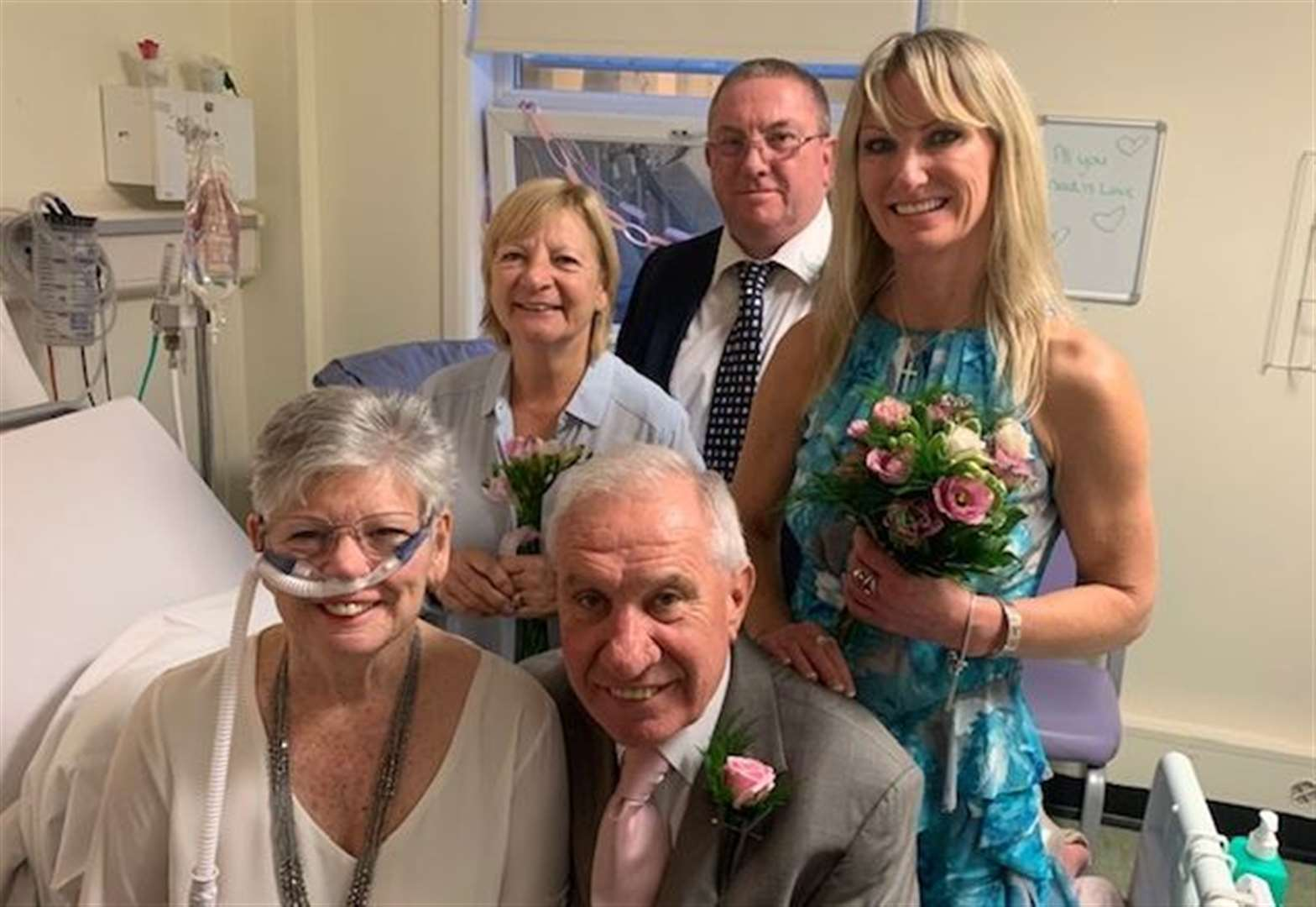 Dying mum marries partner of 40 years in hospital