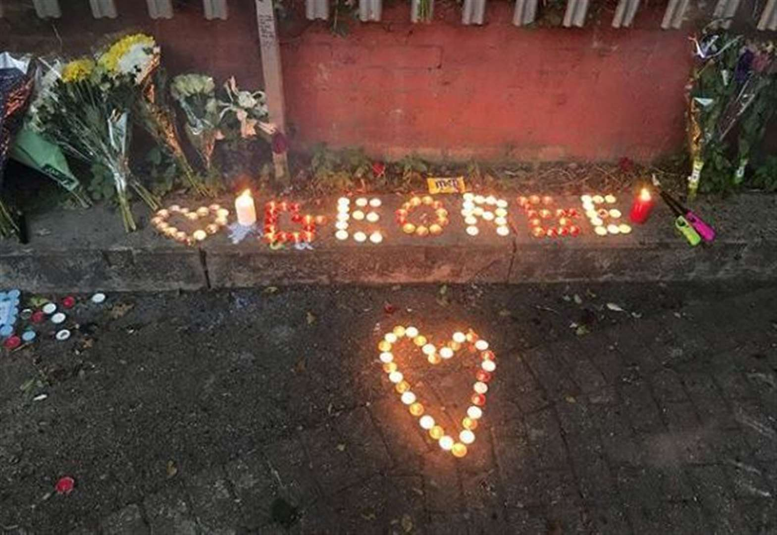 Friends and family leave tributes where teenager died