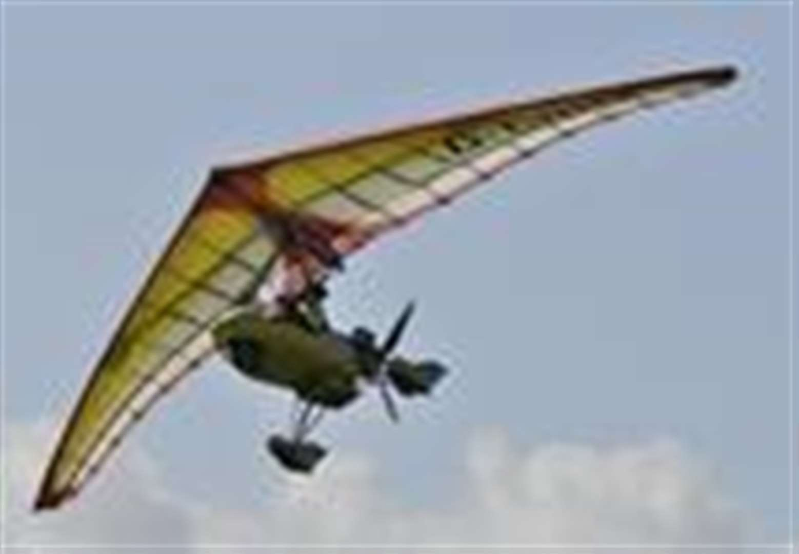 Microlight crash-lands