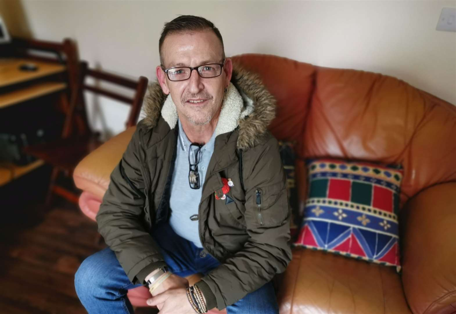 Ex-squaddie glassed in neck left at rock bottom