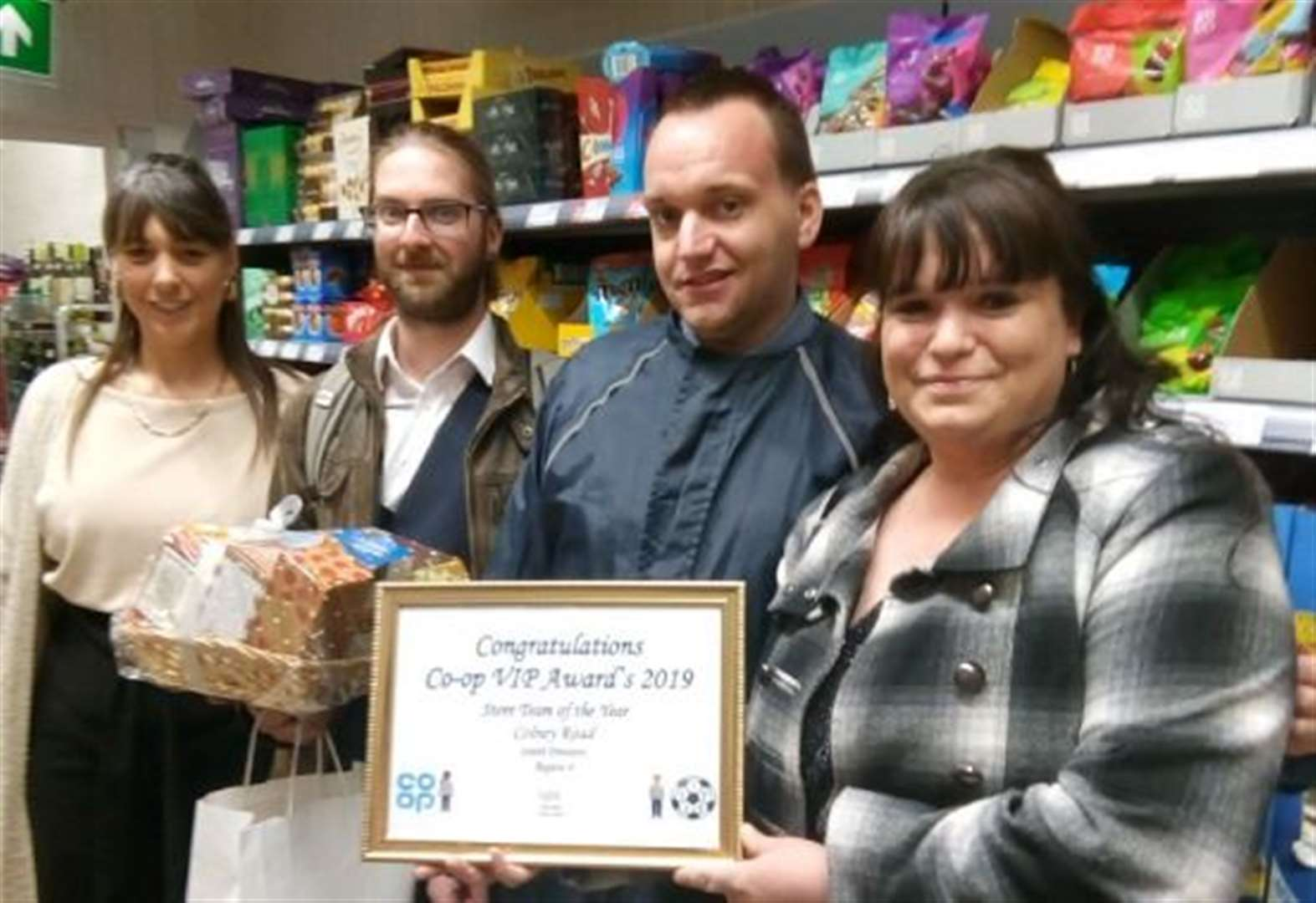 Co-op staff rewarded after hammer attack
