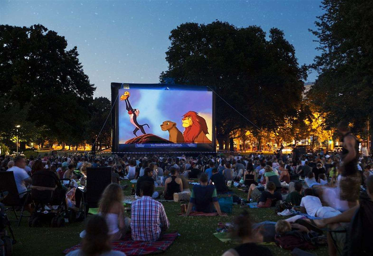 Watch The Lion King under the stars