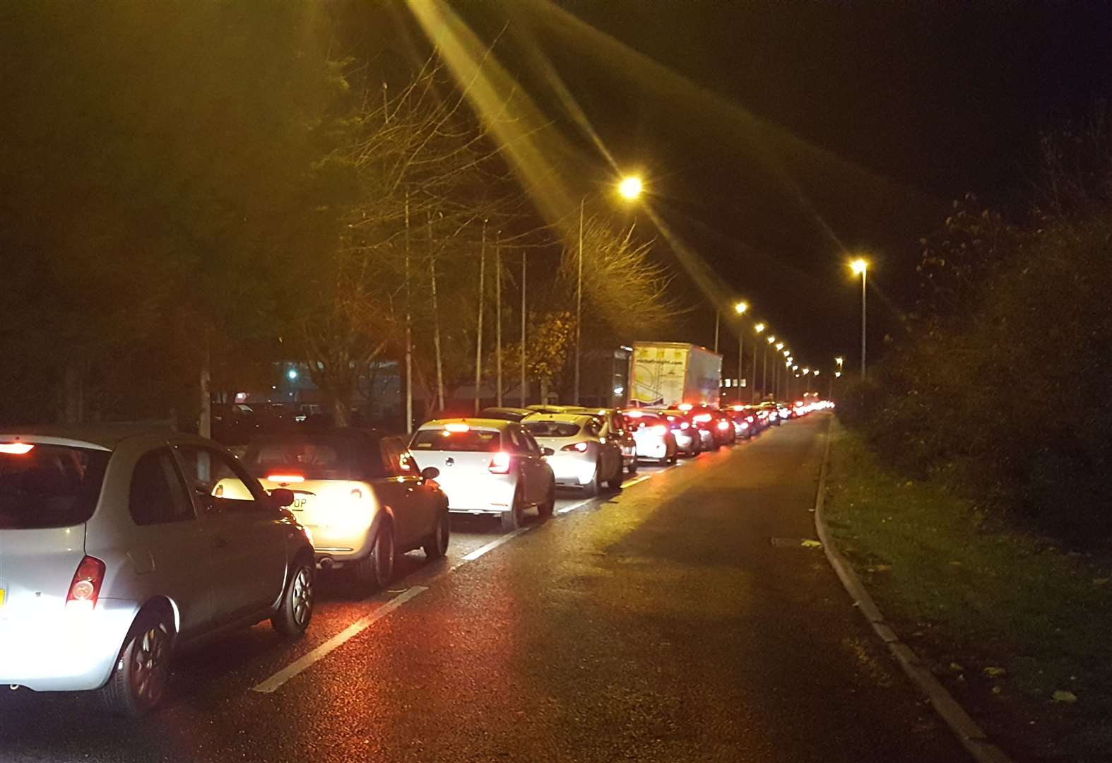 Traffic queueing after crash