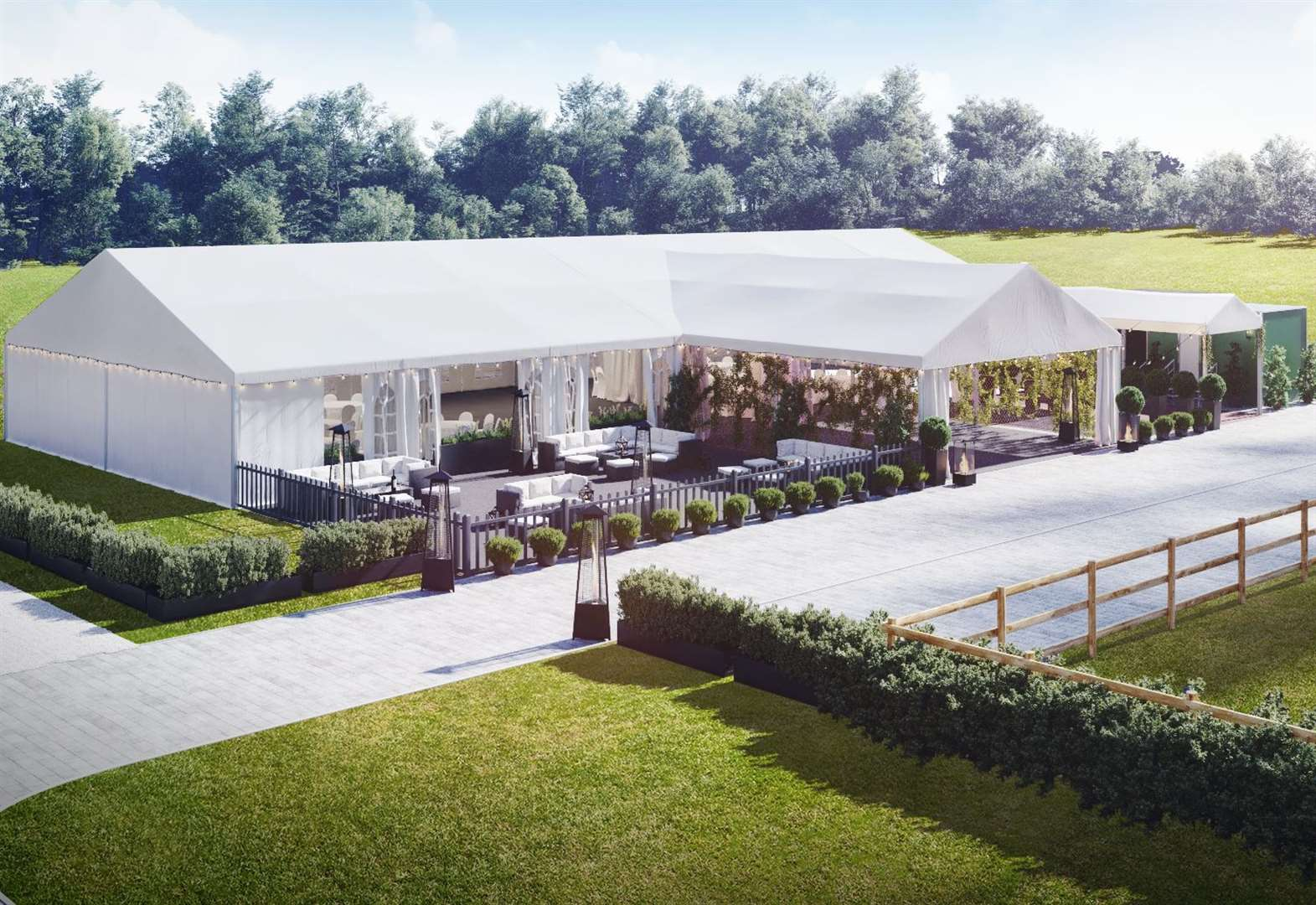 Luxury hotel's new £200k outdoor wedding venue