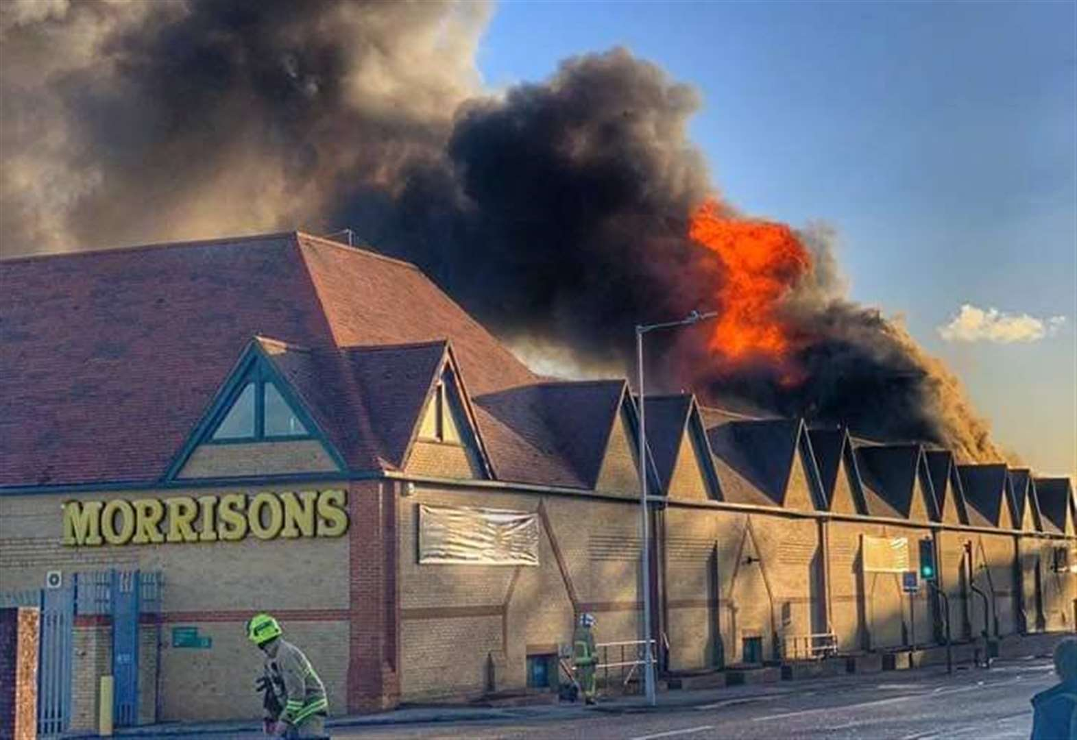 Temporary supermarket plans after fire destroys store