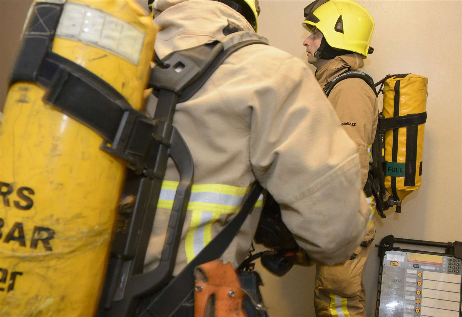 Two treated after house fire