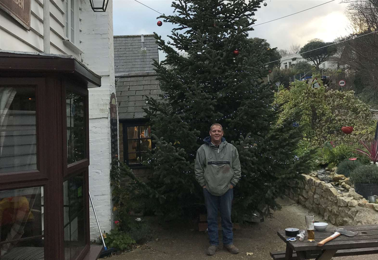 Pub's giant Christmas Tree helps pre-school