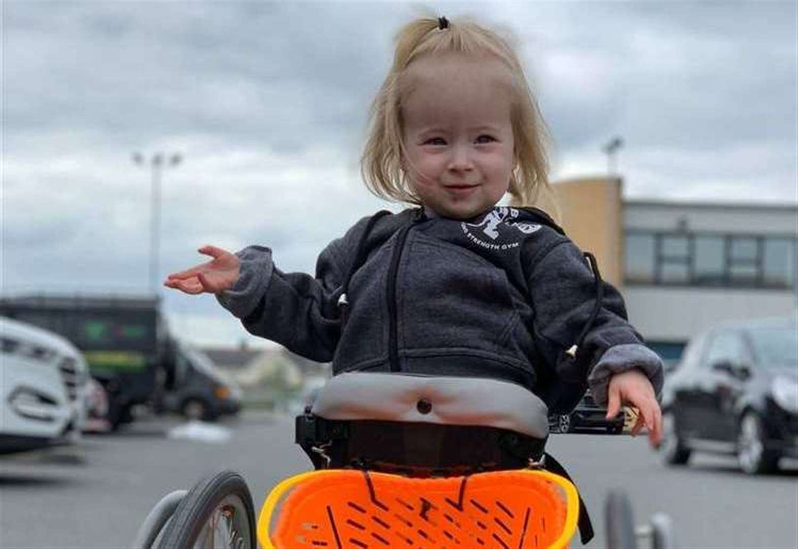Disabled toddler's mobility vehicle stolen
