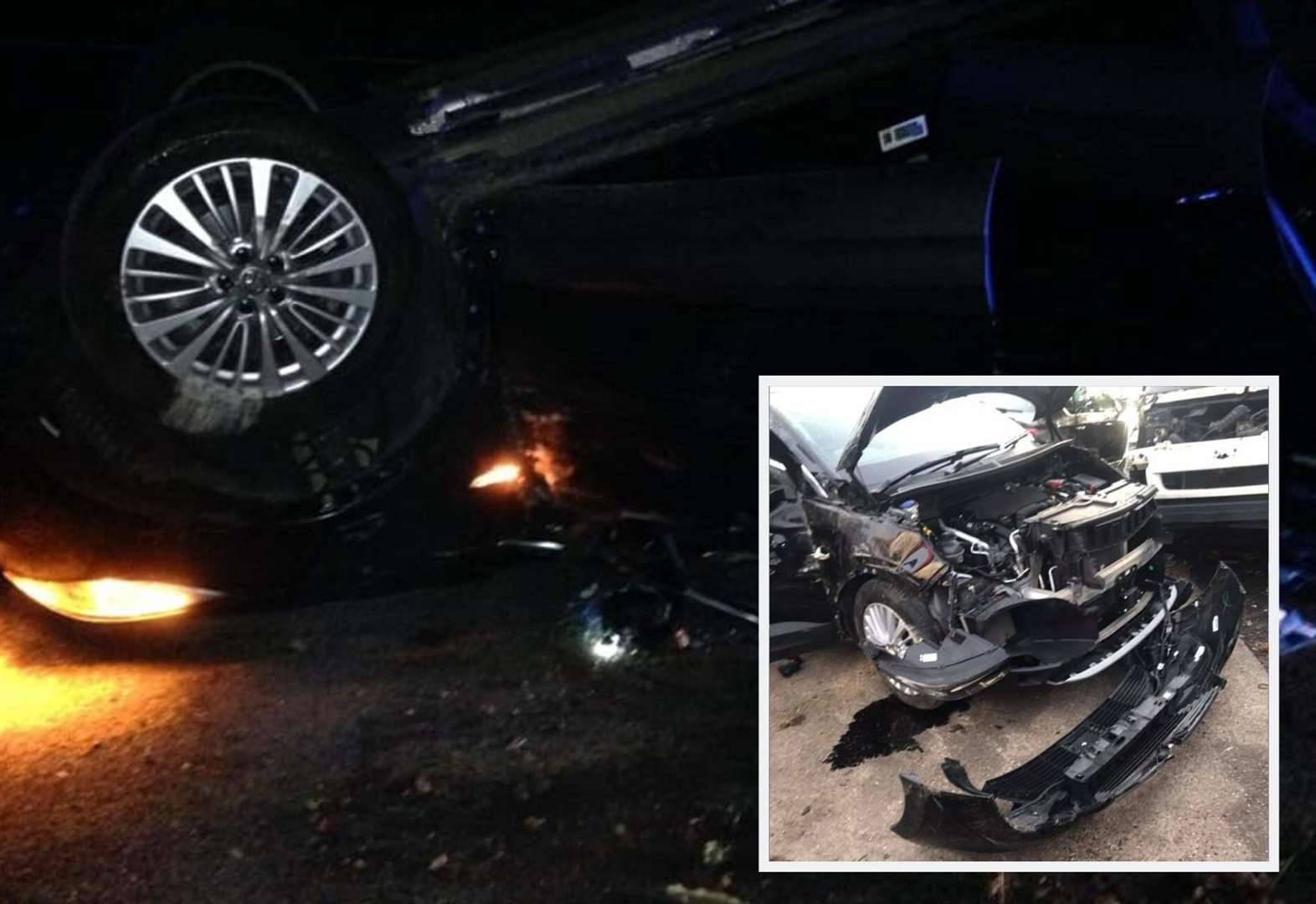 Family's car flips three times in M2 crash