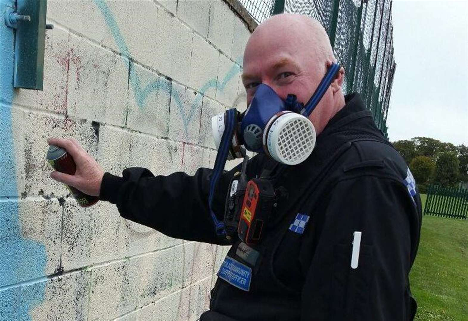 Officer leads the way in street-art mural
