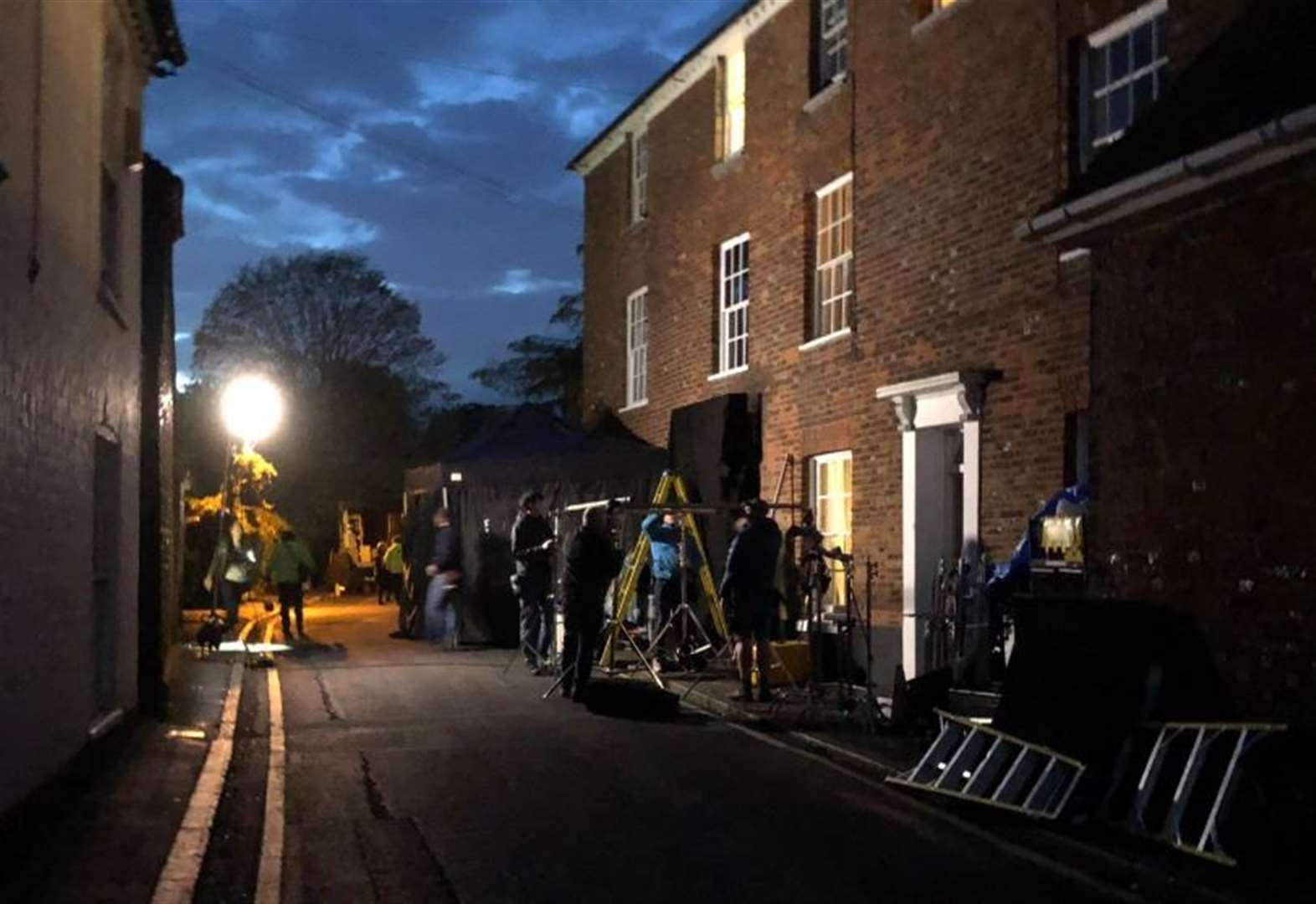 First pictures of crews filming Kate Winslet movie