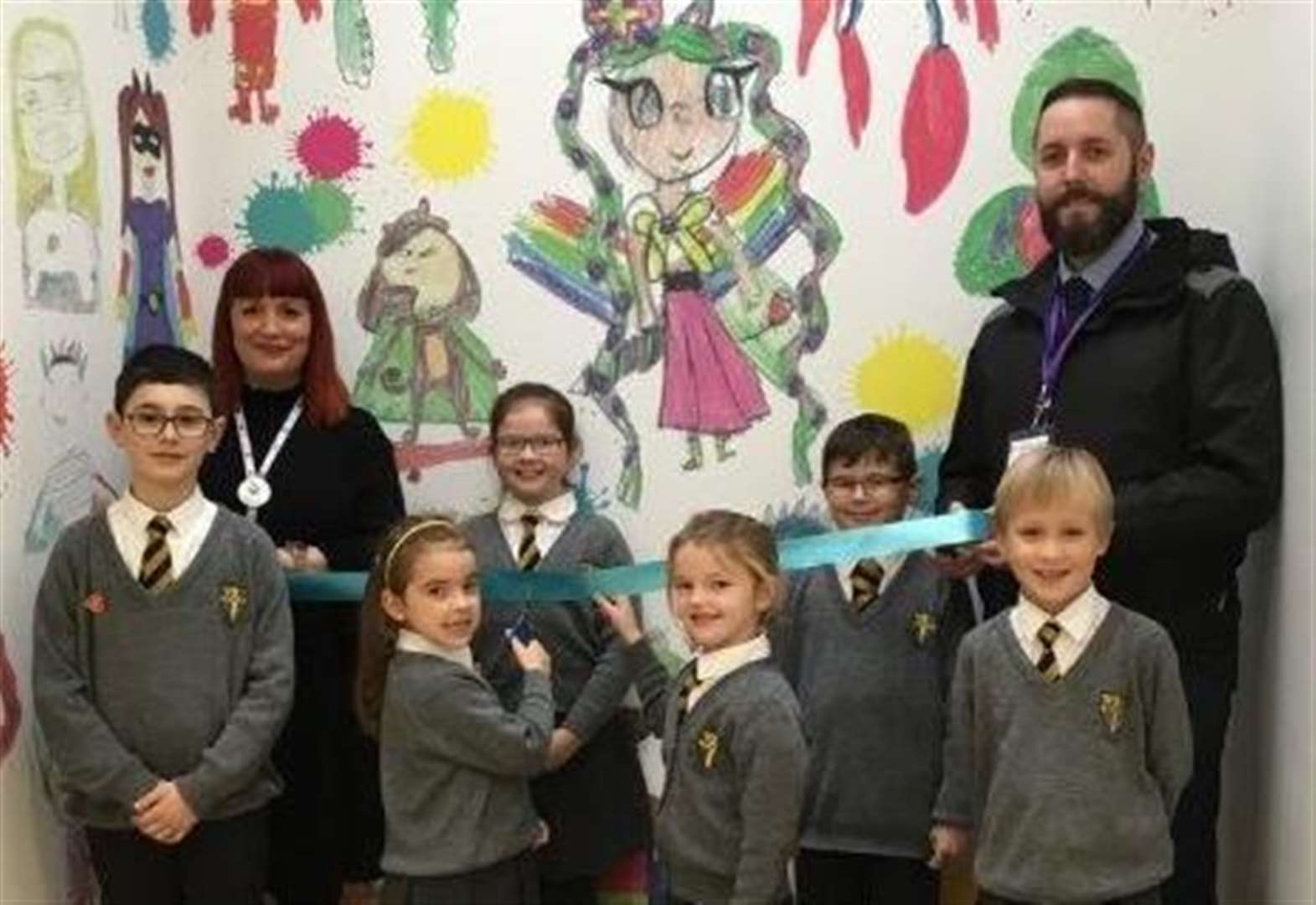Prize-winning superhero mural unveiled