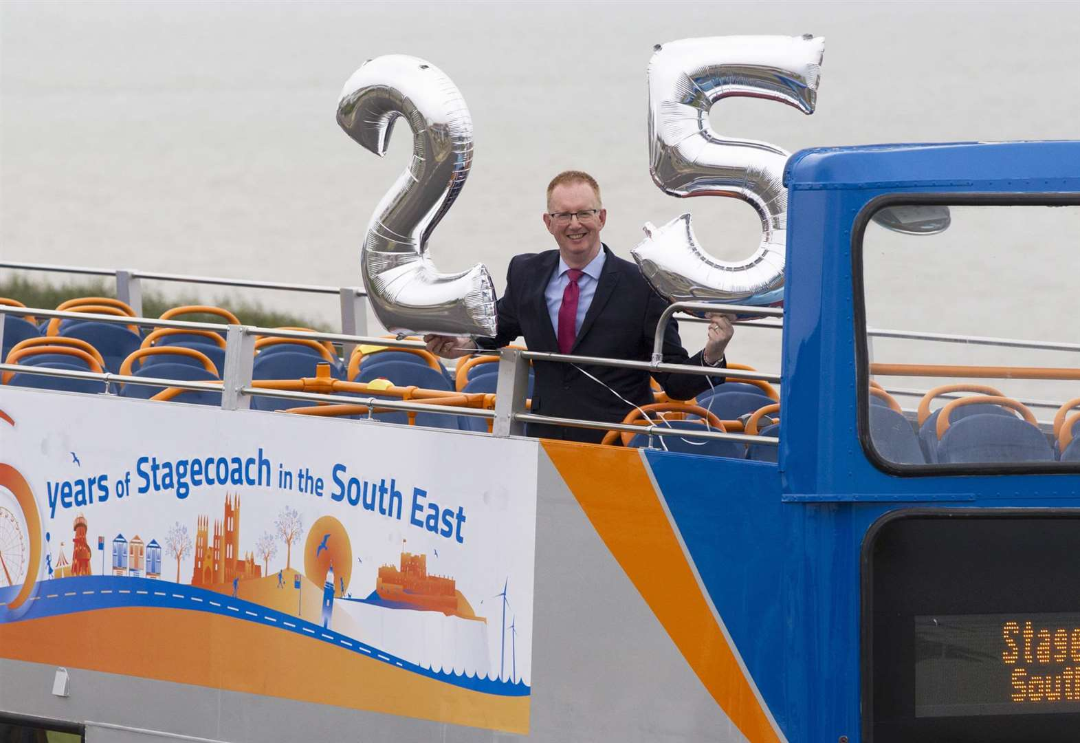 Buses turned silver to mark firm's anniversary