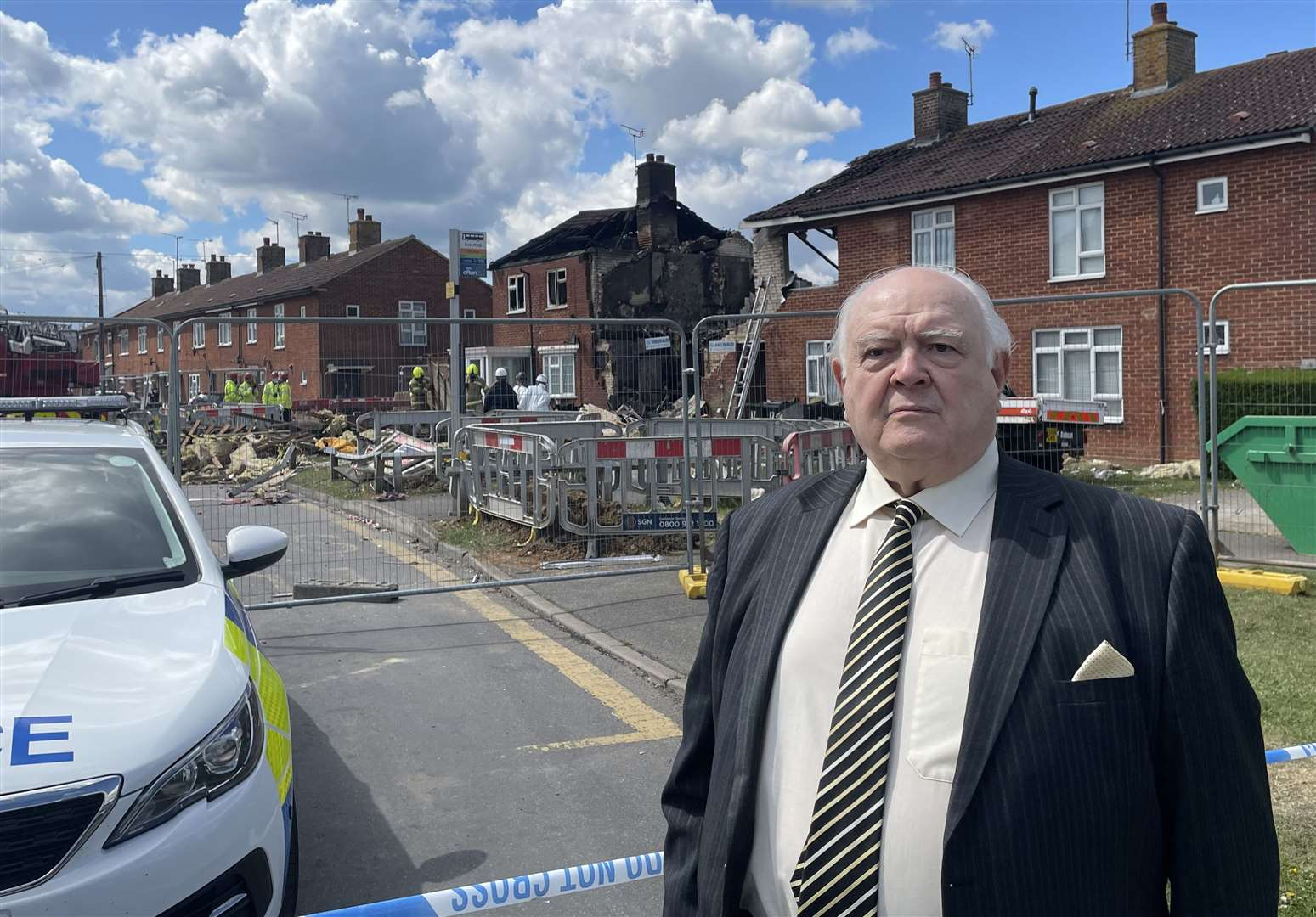 Four homes hit by explosion 'will have to be demolished'