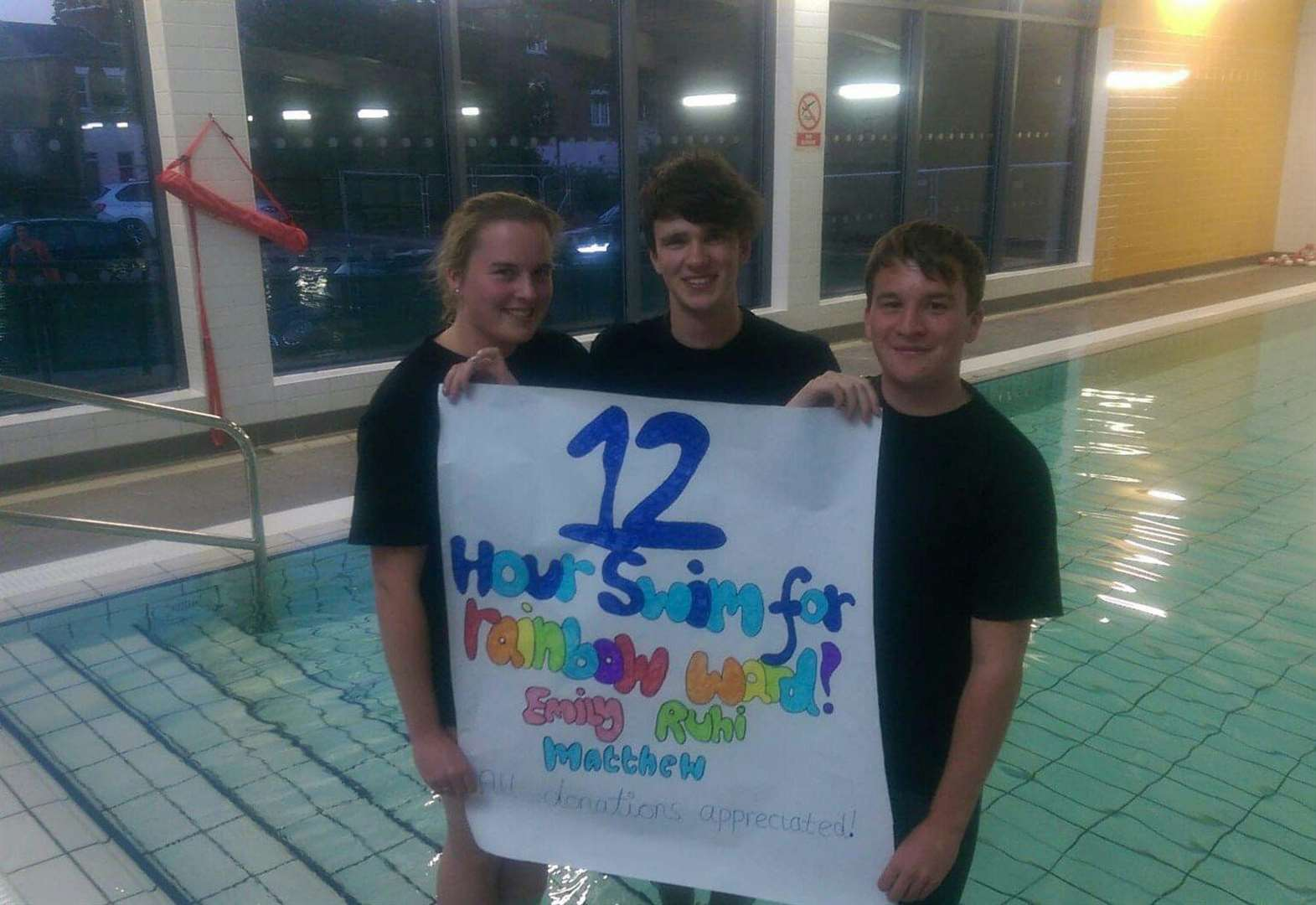 Trio to take on 12-hour swim challenge