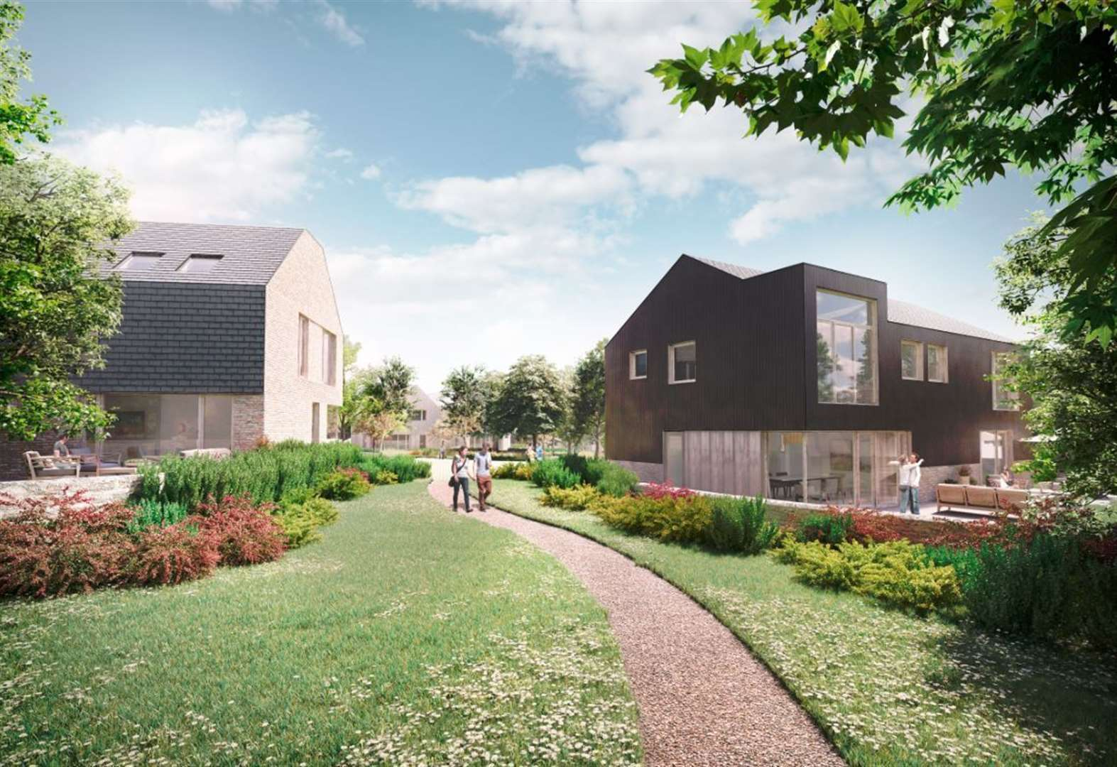 Work on homes with 'eco designs' starts