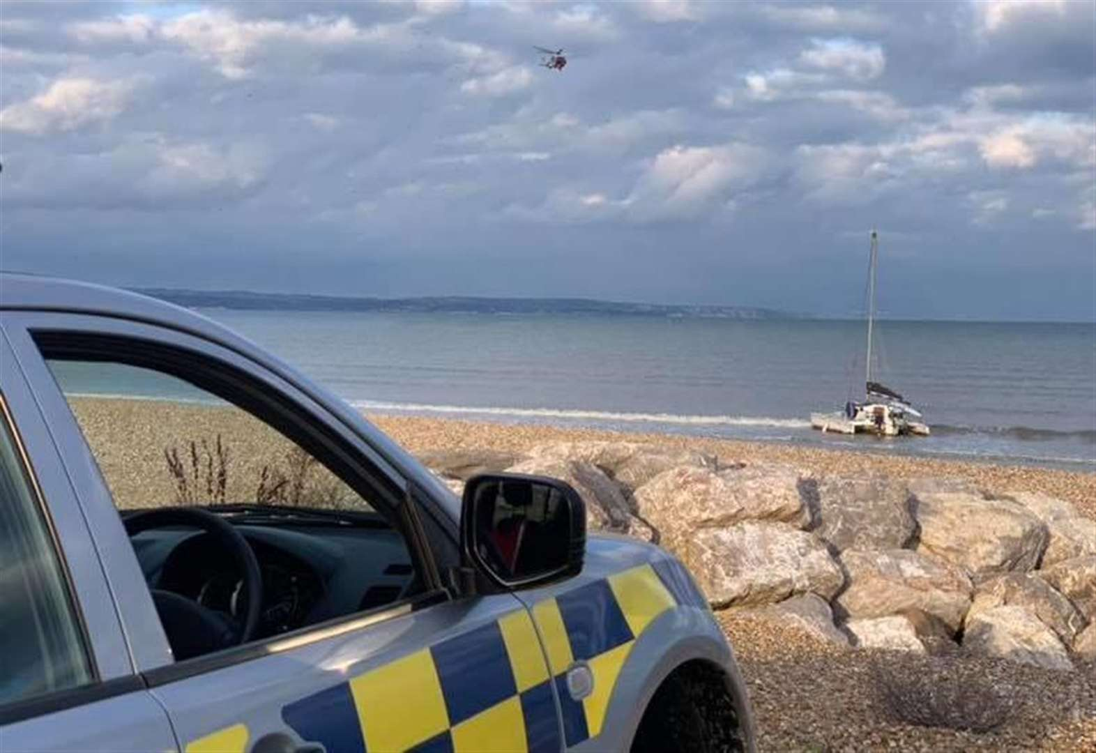 Boat rescued after WW2 harbour crash