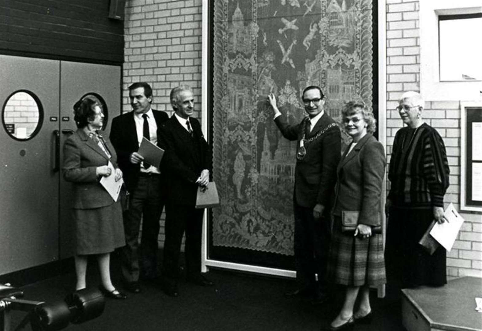 The story of the giant lace panel