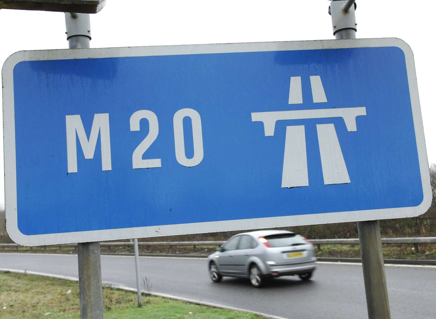 Motorway open after being blocked by burning car