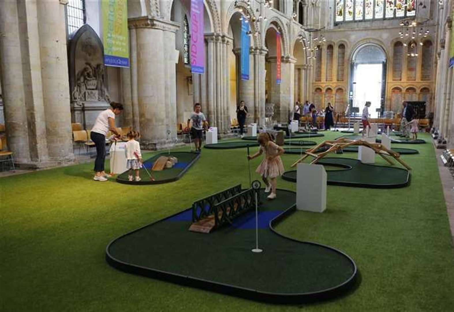 Rochester Cathedral bosses hit back over crazy golf controversy