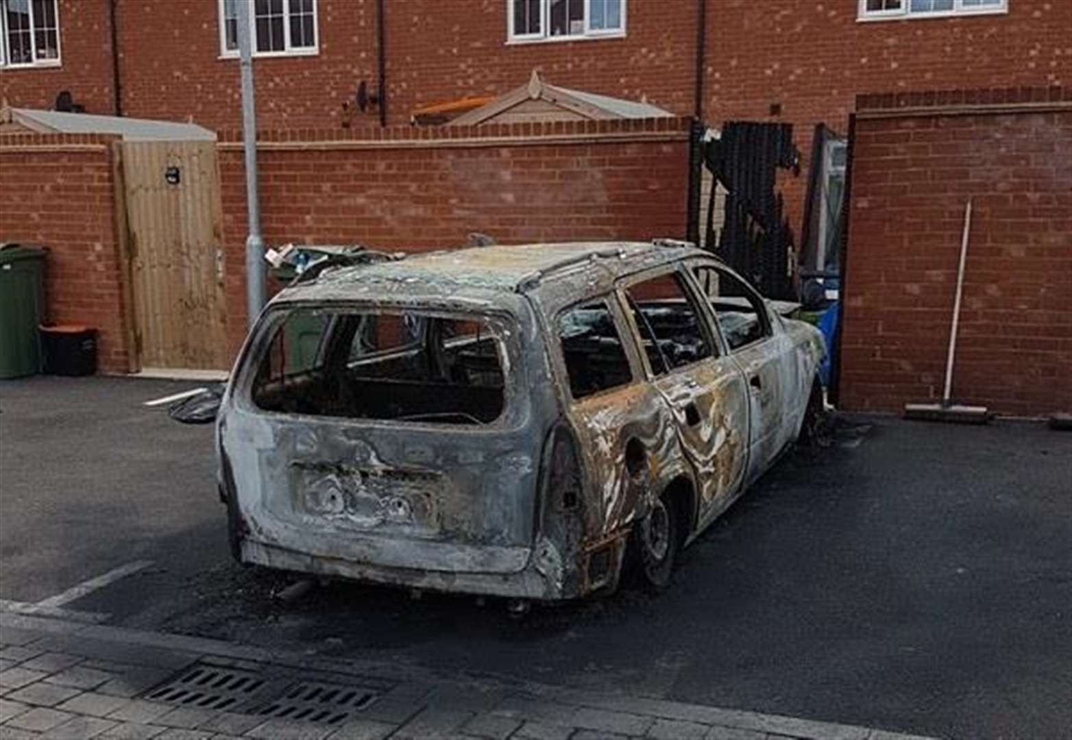 Car destroyed in suspected arson attack