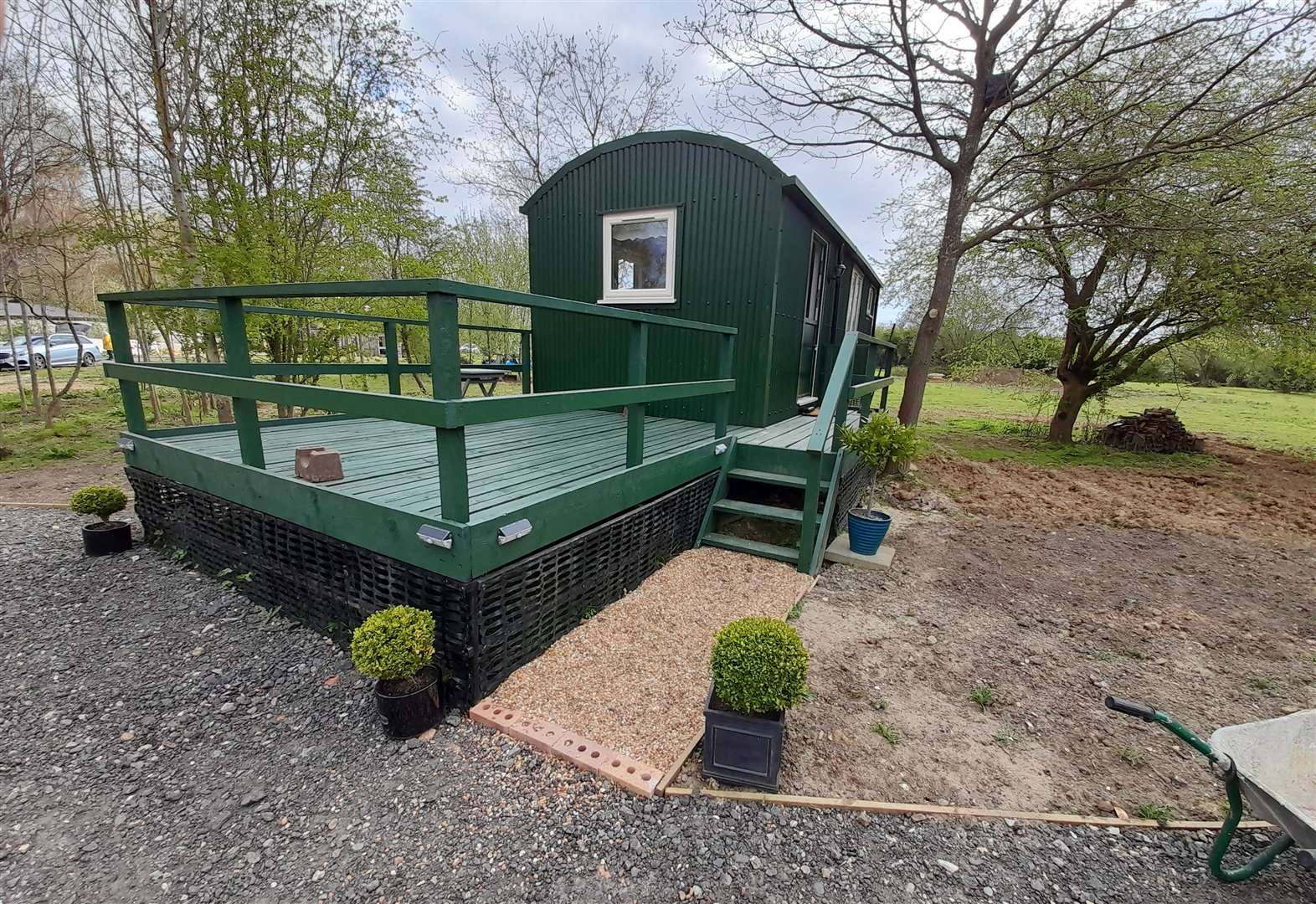 Shepherds' huts offer class accommodation