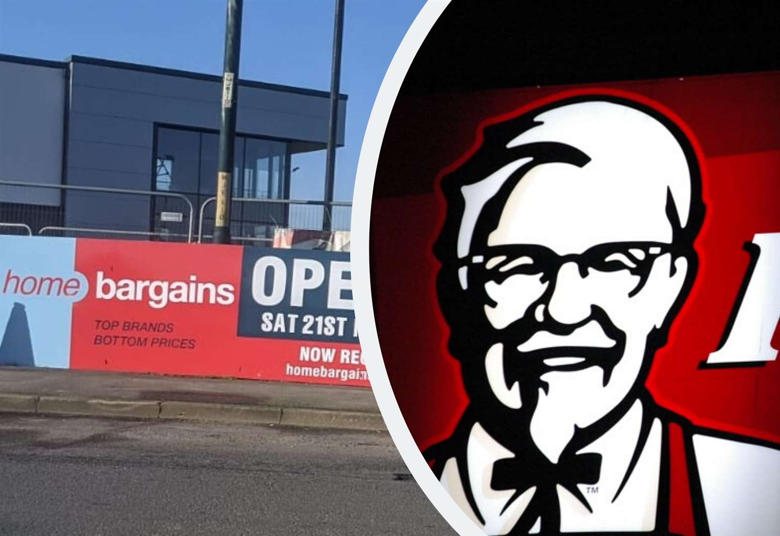 Bargain store and KFC to open in same month