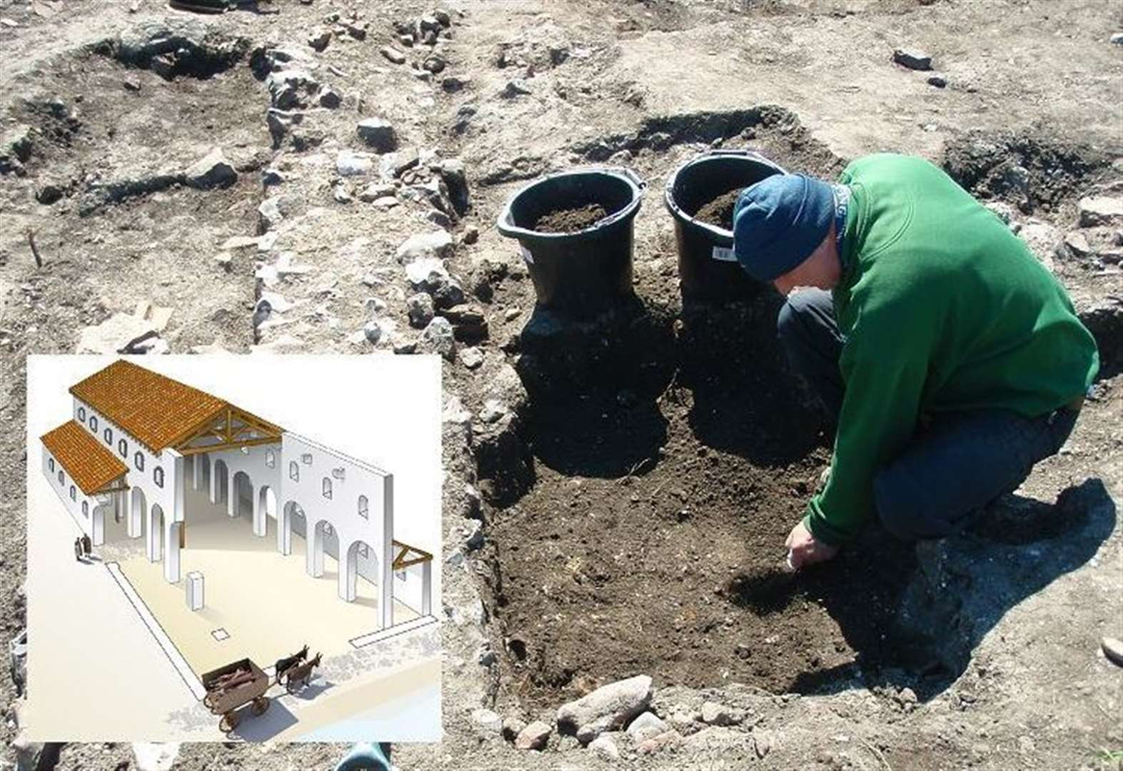Delight as major Roman building unearthed