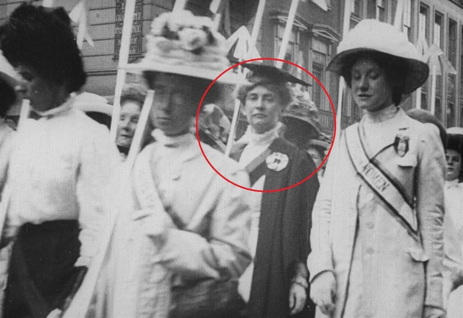 Kent actress spots suffragette killed by horse in rare film