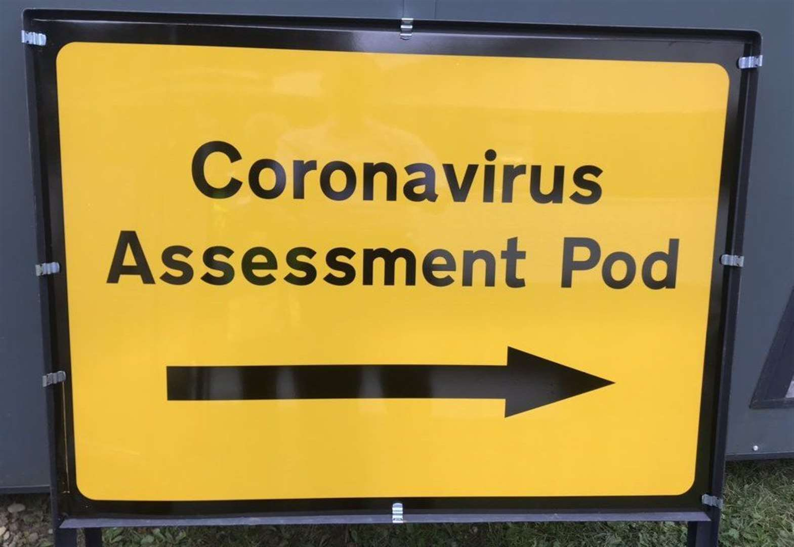 Hospital preparing coronavirus assessment pod