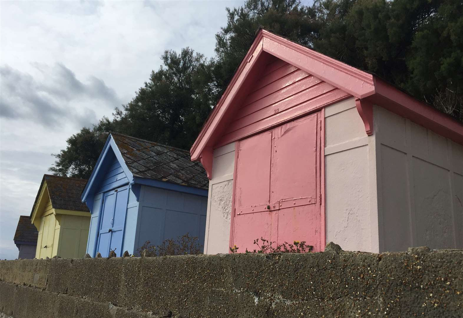 Locks are removed from beach huts