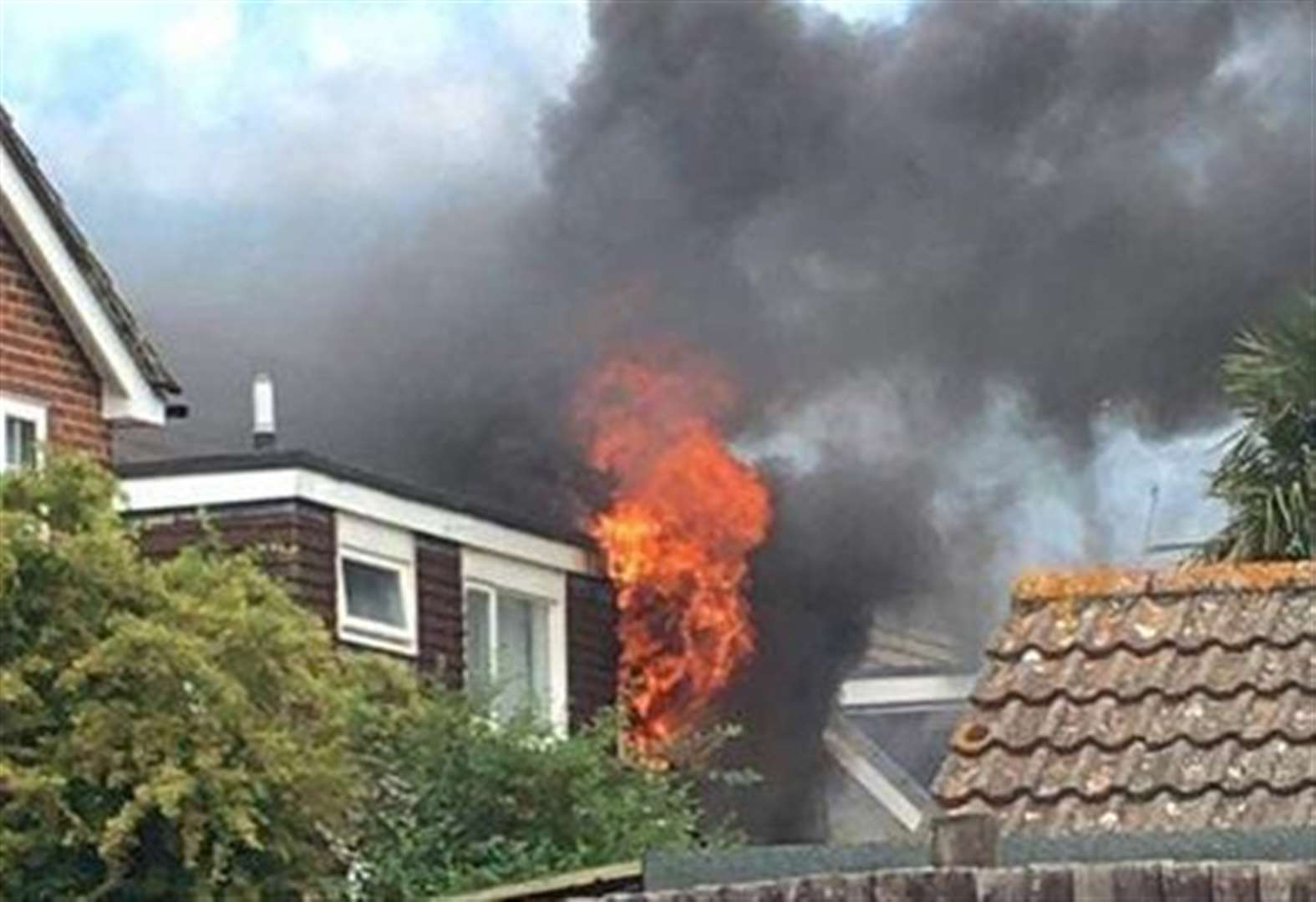 20 firefighters called to house blaze