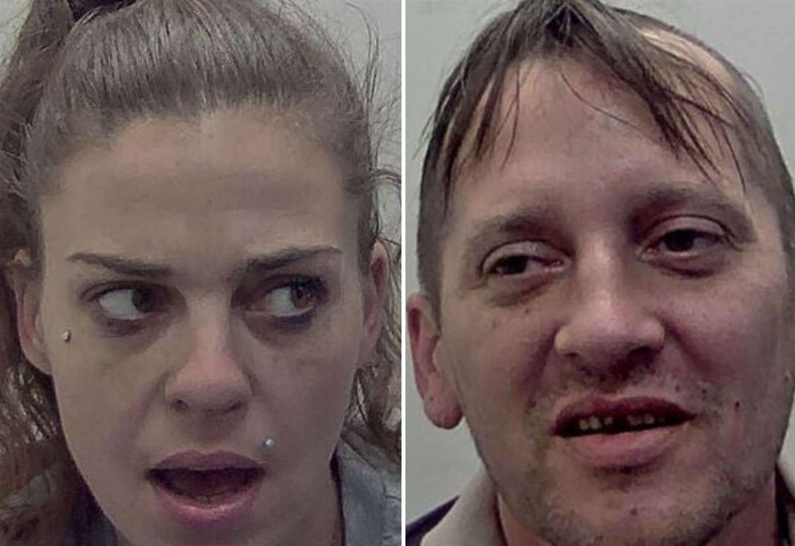 Knifepoint sex sting couple pictured