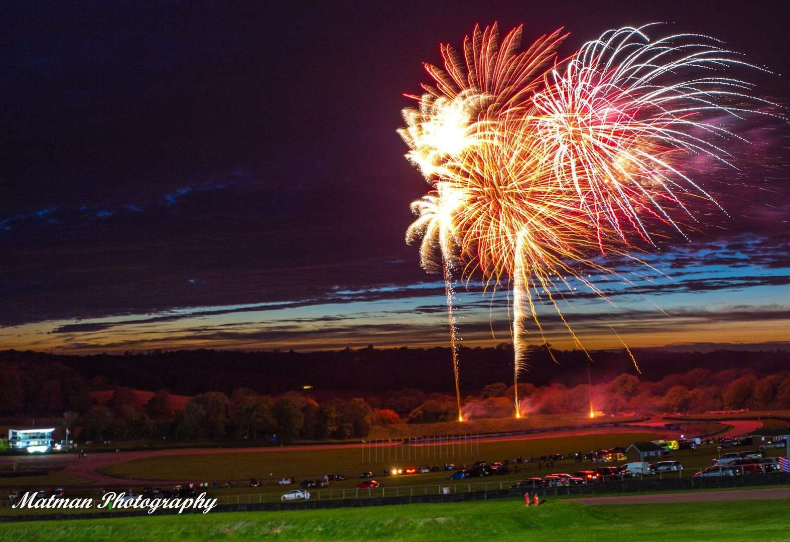Fireworks at race track cancelled