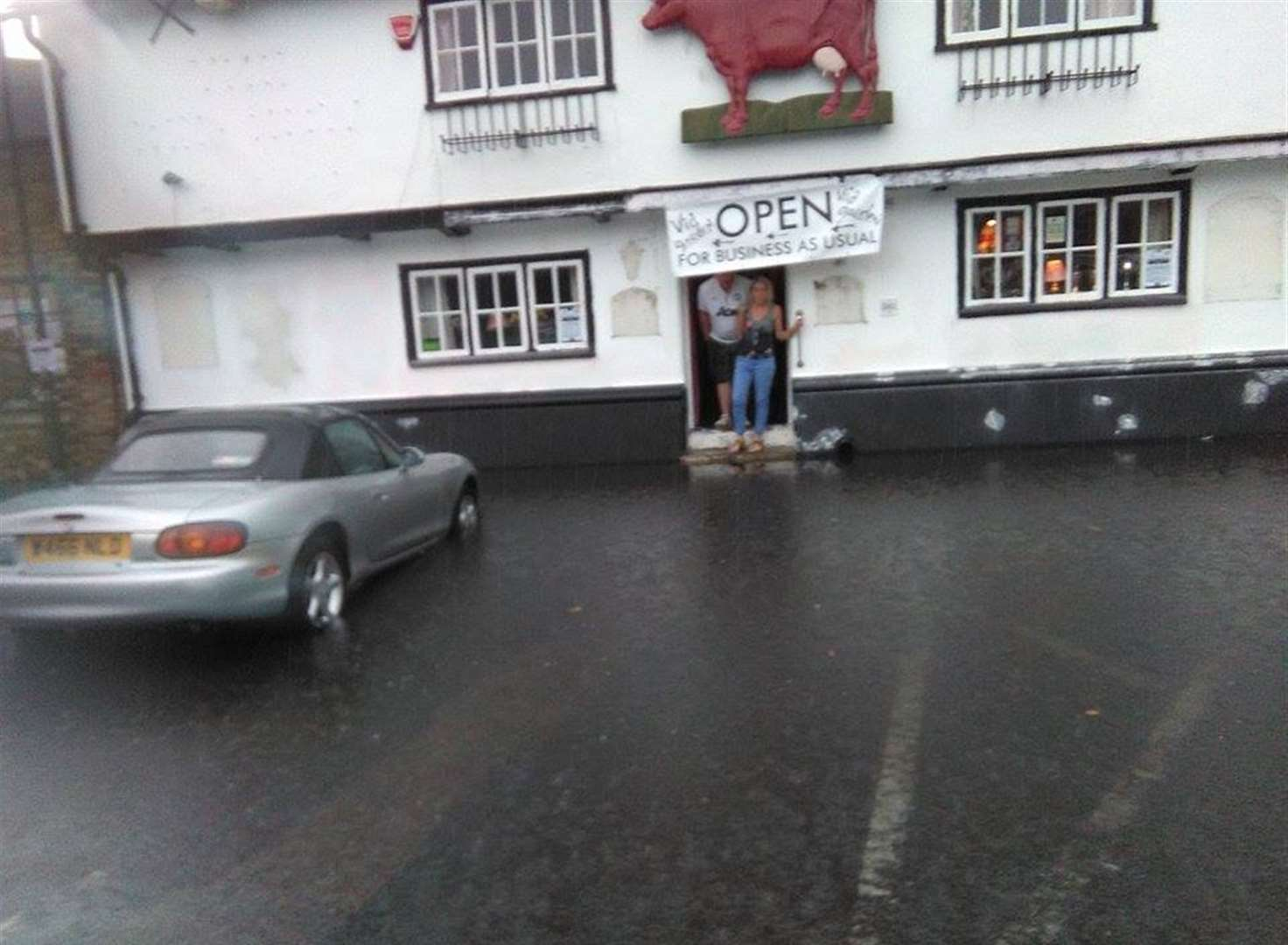 Downpours cause flooding